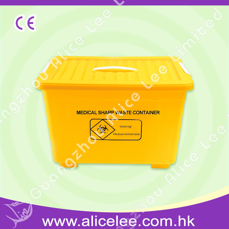 Free moving medical sharps waste container with reels